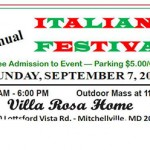 Italian Festival at Villa Rosa on September 7, 2014