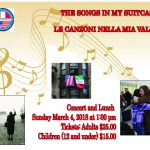 Back by Popular Demand: Songs of Immigration, Part II at Casa Italiana