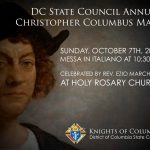 Columbus Day Memorial Mass at Holy Rosary Church