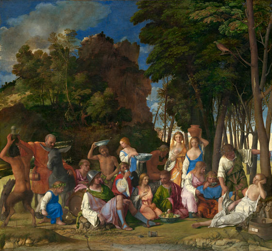 Feast of the Gods by Giovanni Bellini
