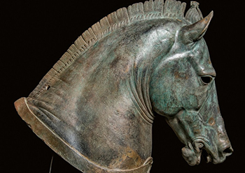 "Horse Head, ""The Medici Riccardi Horse,"" about 350 B.C.,"