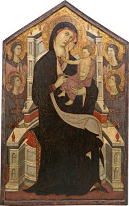 Master of Città di Castello (Italian, active c. 1290 - 1320 ), Maestà (Madonna and Child with Four Angels), c. 1290, tempera on panel, Samuel H. Kress Collection 1961.9.77