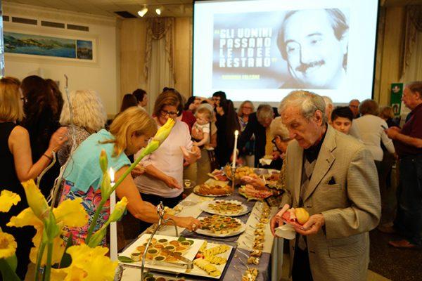 The Giovanni Falcone reception was catered by Simonetta Baldassari's Pappa Fresca